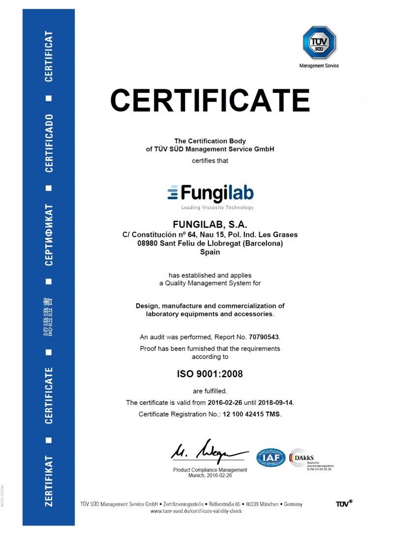 欧盟TUV安全认证证书
