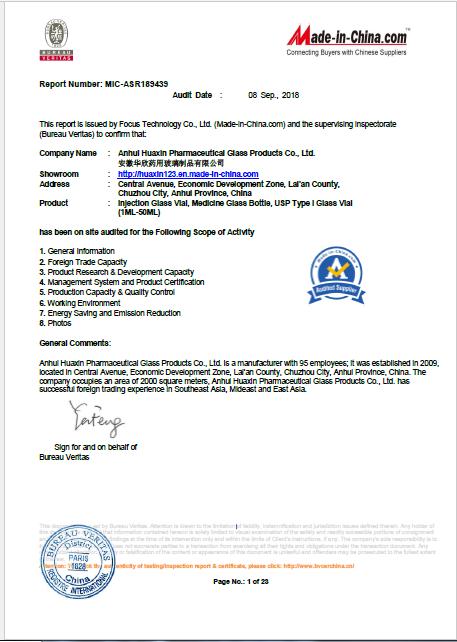 B.V certificate