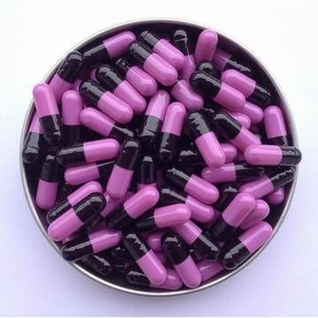 1# 黑紫 罗赛洛明胶空心硬胶囊