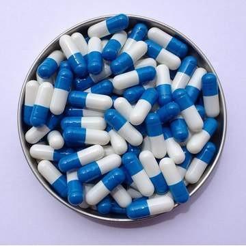 1# 蓝/白 罗赛洛明胶空心硬胶囊