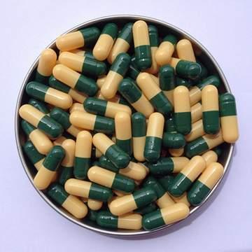 1# 深绿/黄 罗赛洛明胶空心硬胶囊