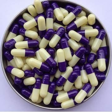 2# 紫/象牙白 罗赛洛明胶空心硬胶囊