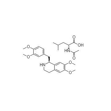 R-四氢罂粟碱-N-乙酰-L-亮氨酸盐