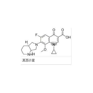 莫西沙星       Moxifloxacin