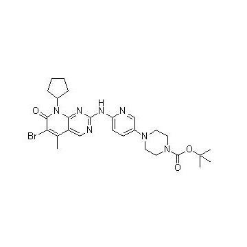 4-[6-[(6-溴-8-环戊基-7,8-二氢-5-甲基-7-氧代吡啶并[2,3-d]嘧啶-2-基)氨基]-3-吡啶基]-1-哌嗪羧酸叔丁酯