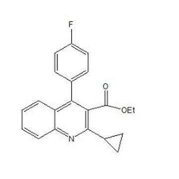 2-环丙基-4-(4-氟苯基)-喹啉-3-羧酸乙酯