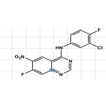 N-(3-氯-4氟苯基)-7-氟-6-硝基喹唑啉胺