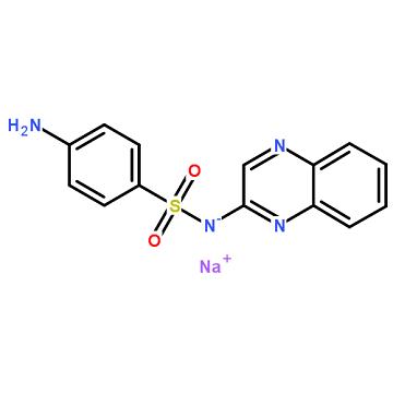 磺胺喹噁啉钠,sulfaquinoxaline,C14H11N4NaO2S