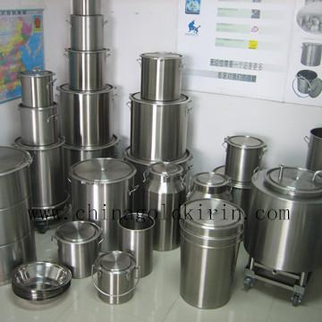 304316L卫生级开口不锈钢密封桶