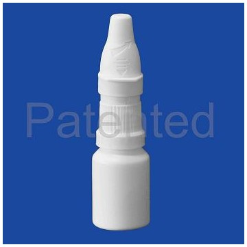 Child resistant nasal spray bottle