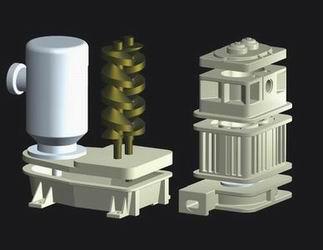 立式螺杆干式真空泵结构原理简介