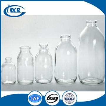 50ml, 100ml, 250ml, 500ml Pharmaceutical glass vial for infuison