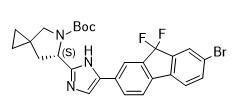 (6S)-5-叔丁氧羰基-6-(5-(7-溴-9,9-二氟-9H-芴-2-基)-1H-咪唑-2-基)-5-氮杂螺-[2.4]-庚烷