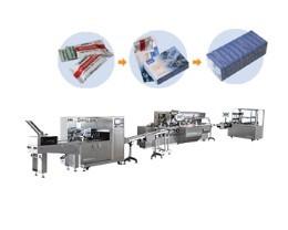 往复式高速枕式包装机/高速装盒机/全自动透明膜三维包装机药品包装生产线