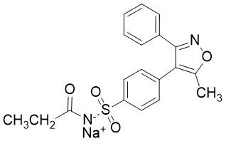 N-[[4-(5-甲基-3-苯基-4-异恶唑基)苯基]磺酰基]丙酰胺钠盐,N-{[4-(5-methyl-3-phenyl-4-isoxazolyl)phenyl]sulfonyl} propanam