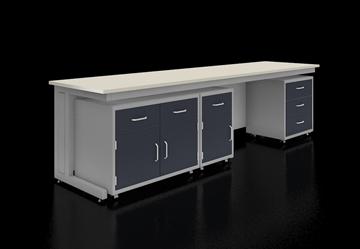 C型钢架结构移动实验台系统