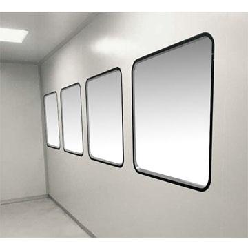 双层钢化玻璃彩钢板雕孔一体窗