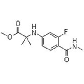N-[3-氟-4-[(甲基氨基)羰基]苯基]-2-甲基丙氨酸甲酯