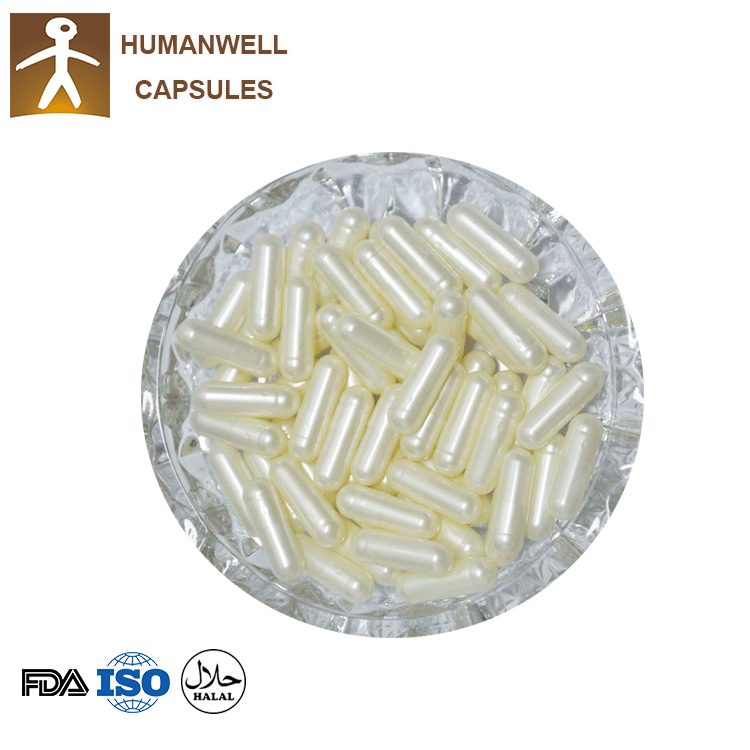 Empty gelatin Capsules pearl white color