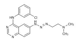 N-(3-Chlorophenyl)-6-[3-[2-(dimethylamino)ethyl]-2-triazenyl]quinazolin-4-amine