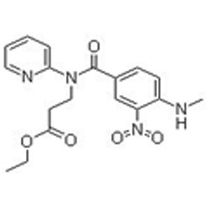 Ethyl 3-(4-(methylamino)-3-nitro-N-(pyridin-2-yl)benzamido)propanoate 3-(4-(甲基氨基)-3-硝基-N-(吡啶-2-基)苯甲酰