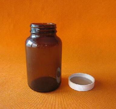 棕色大口玻璃药品瓶(PTFE垫)