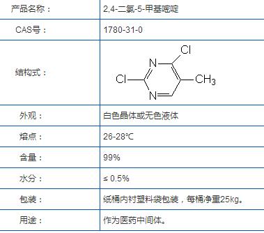 2,4-氯-5-甲基嘧啶