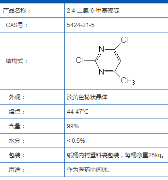 2,4-氯-6-甲基嘧啶
