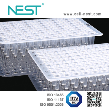 NEST PCR 96孔板 透明无裙边
