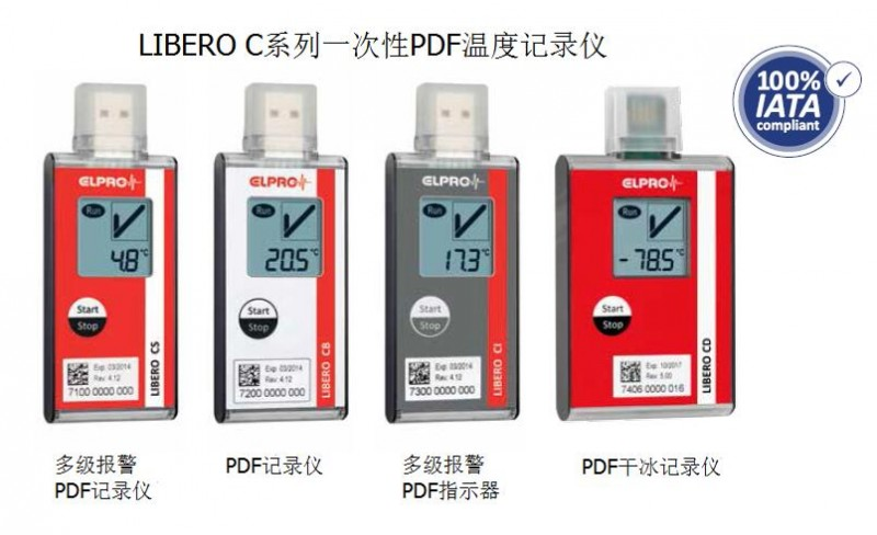 瑞士ELPRO LIBERO CS一次性PDF温度记录仪