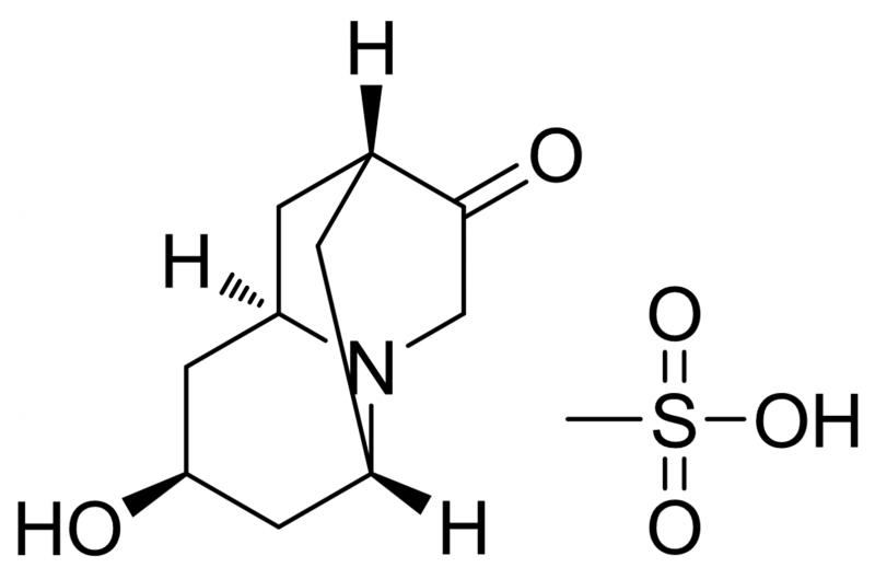 内-六氢-8-羟基-2,6-亚甲基-2H-喹嗪-3(4H)-酮甲磺酸盐