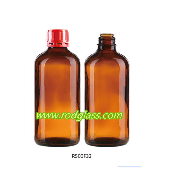 500ml amber reagent glass bottle for liquid chemical reagent