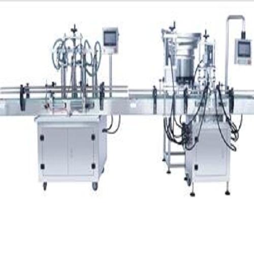 4头灌装机+直线式旋盖机