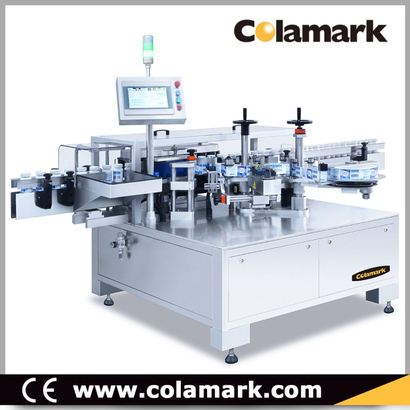 Colamark A102 垂直辊子链式大圆瓶智能贴标机