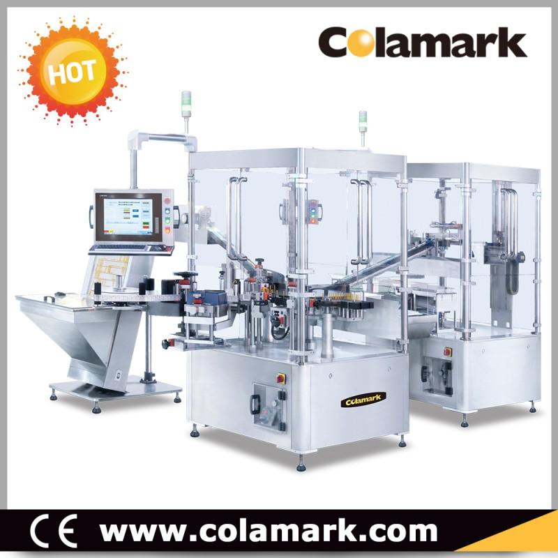 Colamark A33 预充针管高速扭杆智能贴标系统