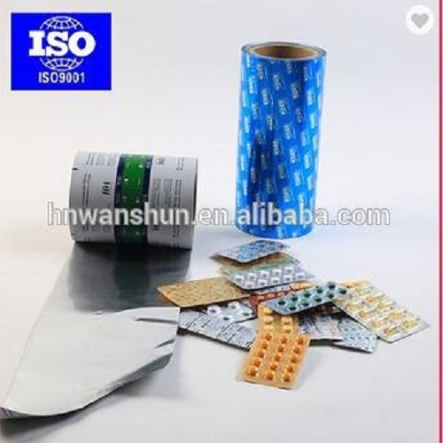 colored food packing medical packing aluminium foil