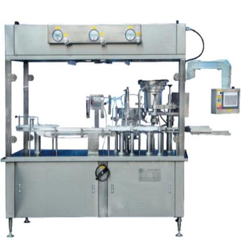 JHG3- 系列液体灌装(粉末分装)加塞轧(旋)盖机