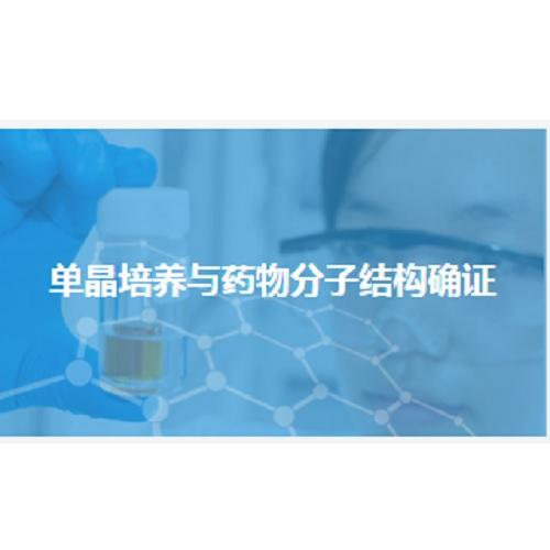 单晶培养与药物分子结构确证