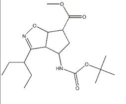 (3aR,4R,6S,6aS)-4-[叔丁氧羰基氨基]-3-(1-乙基丙基)-3a,5,6,6a-四氢-4H-环戊并[d]异恶唑-6-羧酸甲酯