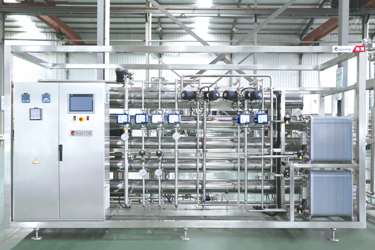 热水消毒的纯化水设备
