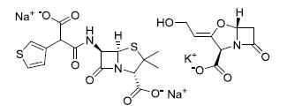 替卡西林钠/克拉维酸钾
