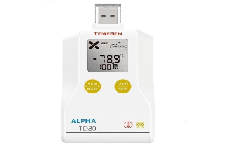 TD80重复使用干冰温度记录仪