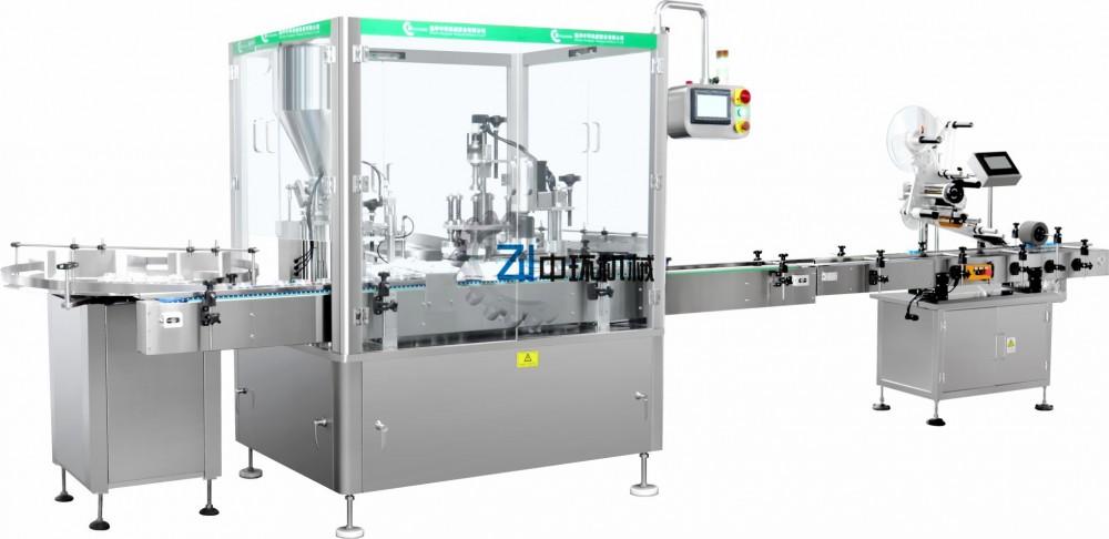 ZHG-50面霜灌装覆膜旋盖机