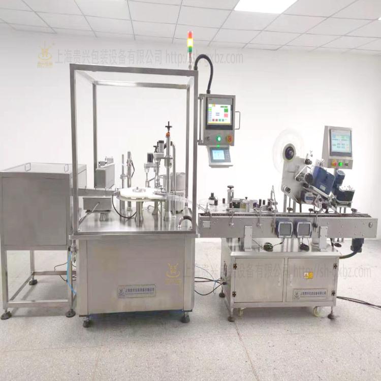 IVD微量诊断试剂灌装旋盖贴标生产线