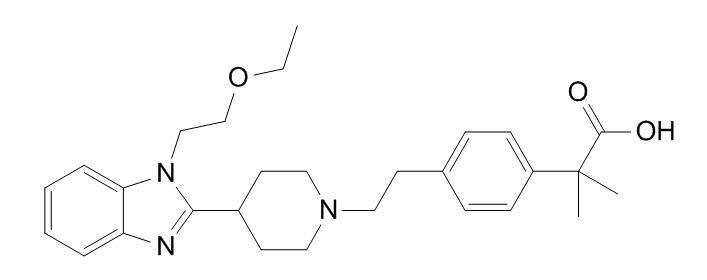 2-(4-(2-(4-(1-(2-ethoxyethyl)-1H-benzo[d]imidazol-2-yl)piperidin-1-yl)ethyl)phenyl)-2-methylpropanoi