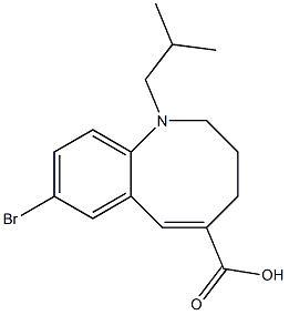 (E)-8-溴-1-异丁基-1,2,3,4-四氢苯并[B]吖辛因-5-羧酸