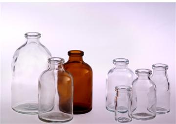 中硼硅玻璃模制注射剂瓶(棕色/透明)
