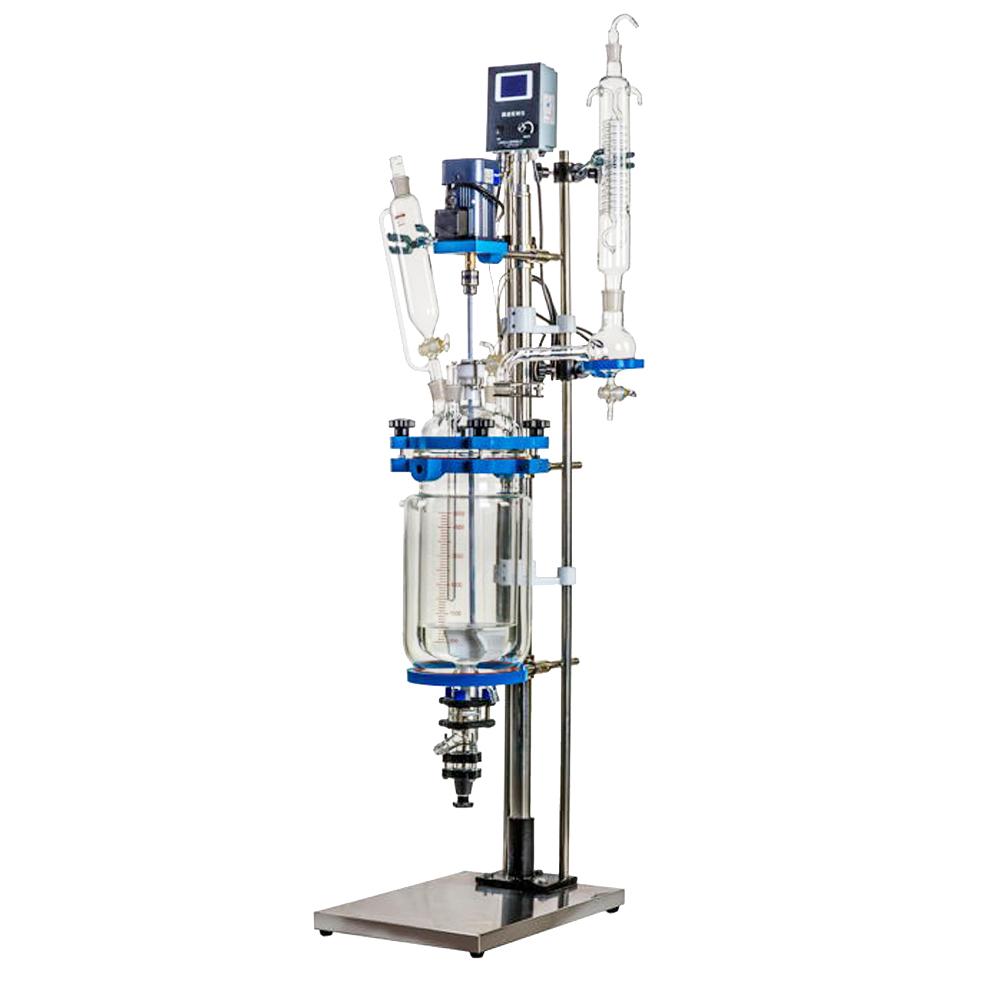 YSF系列实验室真空搅拌反应釜 高温制冷夹套双层高硼硅玻璃反应釜
