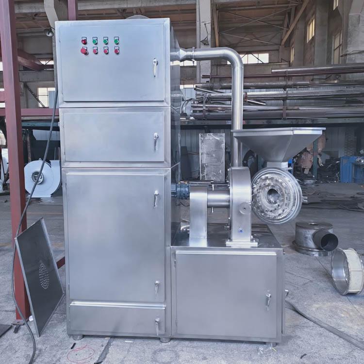 化学添加剂粉碎机 无铝膨松剂粉碎机 高速齿盘式磨粉机带除尘箱