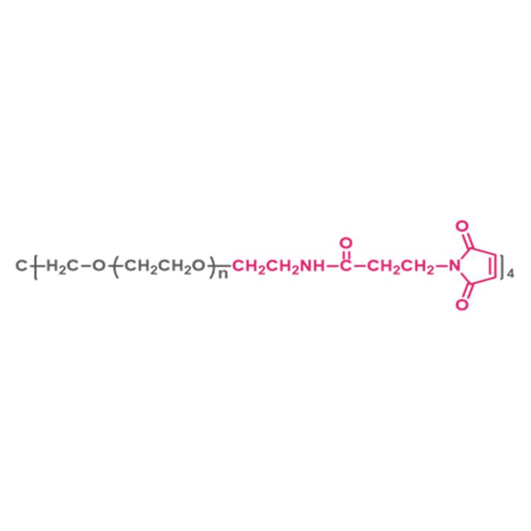 四臂聚乙二醇马来酰亚胺(酰胺键) 4-arm Poly(ethylene glycol) maleimide